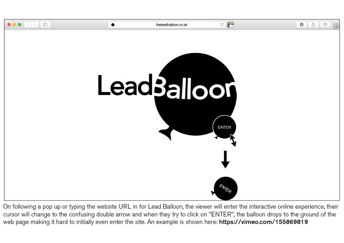 Lead Balloon Website Storyboard - Katie Molly Hurst